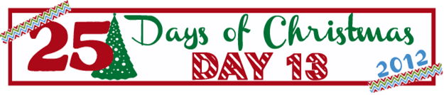 25 Days of Christmas Banner Day 13