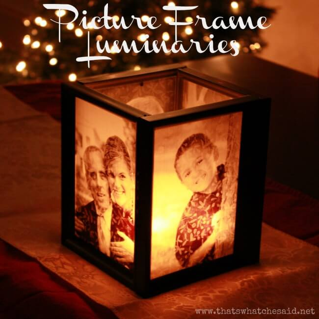 Picture Frame Luminaries at www.thatswhatchesaid.com