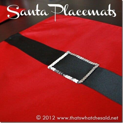 Santa Placemats Square