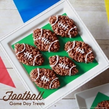 Football Rice Krispie Game Day Treats at www.thatswhatchesaid.com