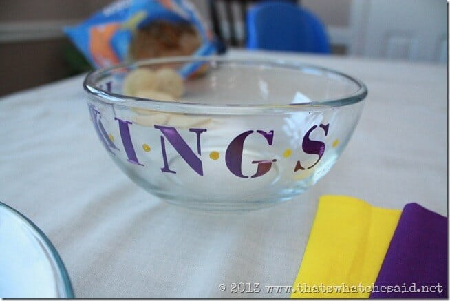 Painted Glass NFL Serving Bowl