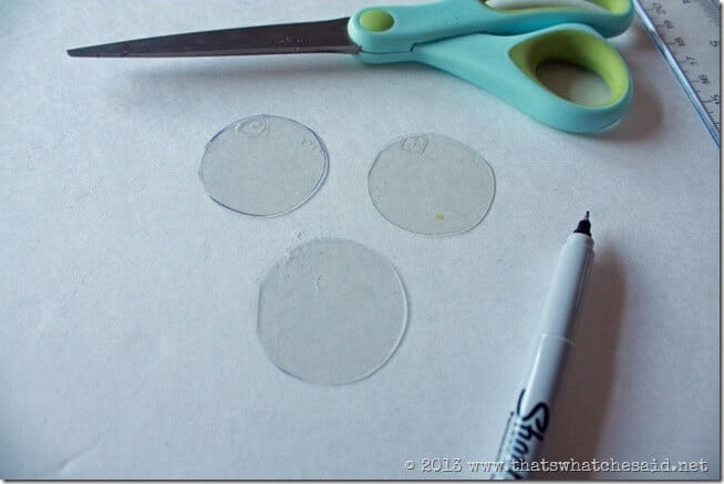 Clear Plastic Circles for Kaleidoscope
