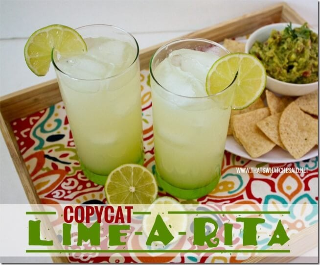 Copycat Lime-a-Rita Recipe at thatswhatchesaid.net