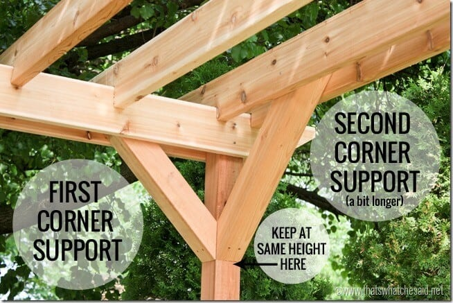 Corner Support Placement on pergola at thatswhatchesaid