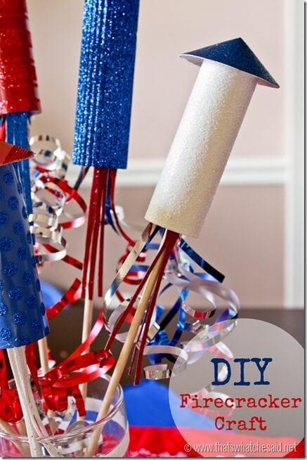 DIY Firecracker Paper Craft