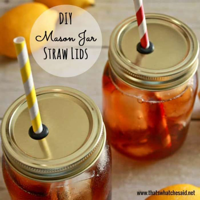 DIY Mason Jar Straw Lids Tutorial at thatswhatchesaid