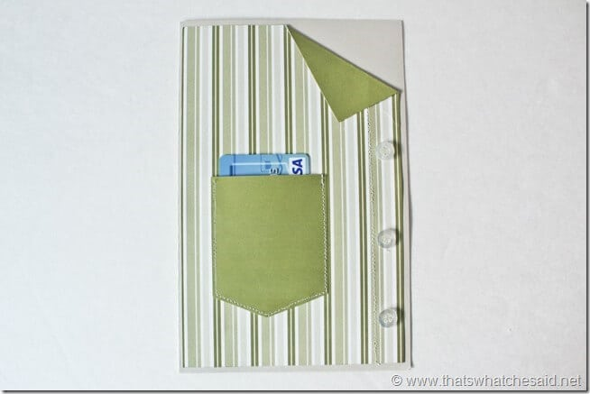 Fathers Day Shirt Gift Card Holder