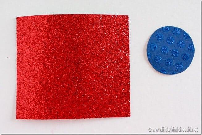 Firecracker Pieces for Firecracker Centerpiece