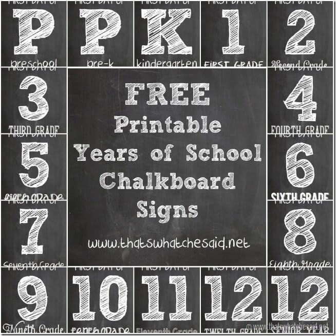 First Day of school Signs - Free Printables