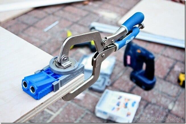 Drill Pocket Holes using Kreg Jig Jr.