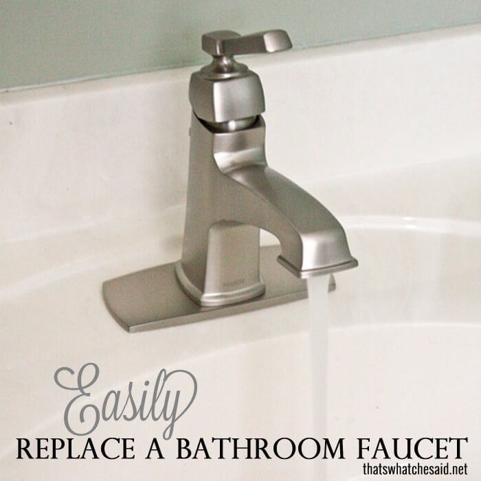 Easily Replace a bathroom faucet to update your space