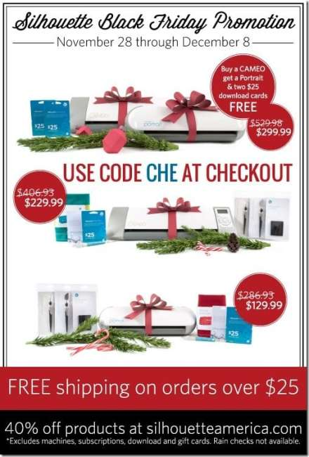 Silhouette Amazing Holiday Deals at thatswhatchesaid.net