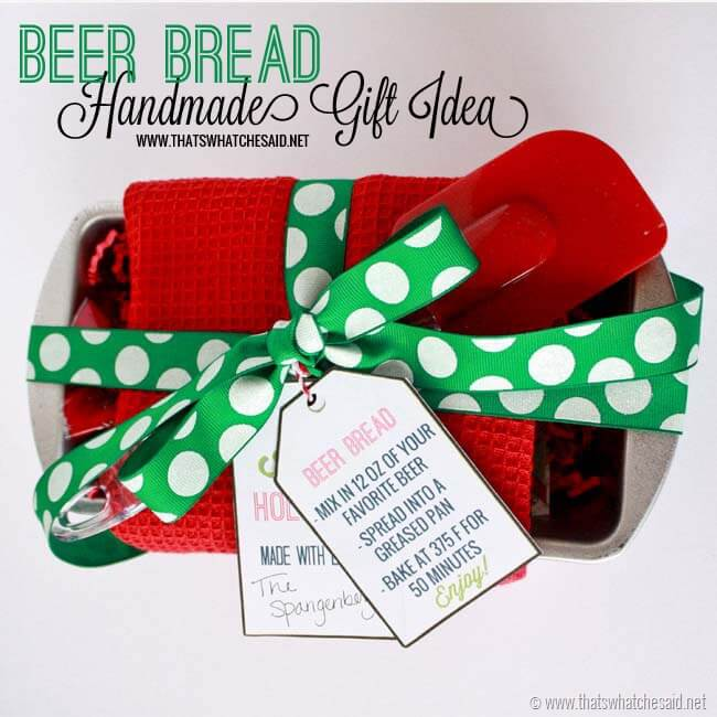 Beer Bread Handmade Gift Idea at thatswhatcheaid.net