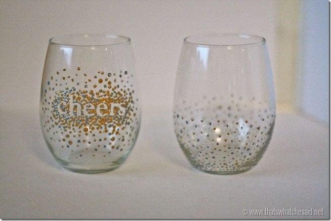 DIY Dot Wine Glasses 6