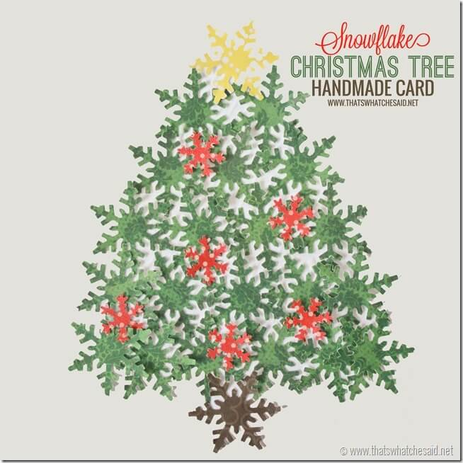 Holiday Handmade Card Idea with thatswhatchesaid.net