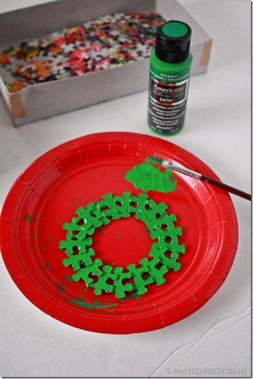 Wreath Puzzle Oranament 1