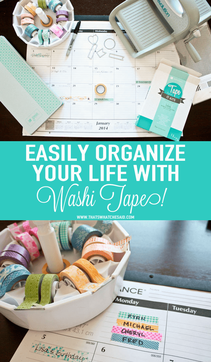 Easily Organize your Family Life with Washi Tape!