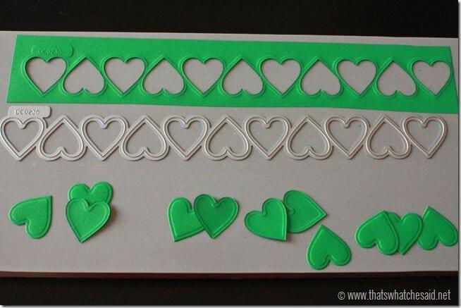 DIY Shamrock Pin Heart cutouts