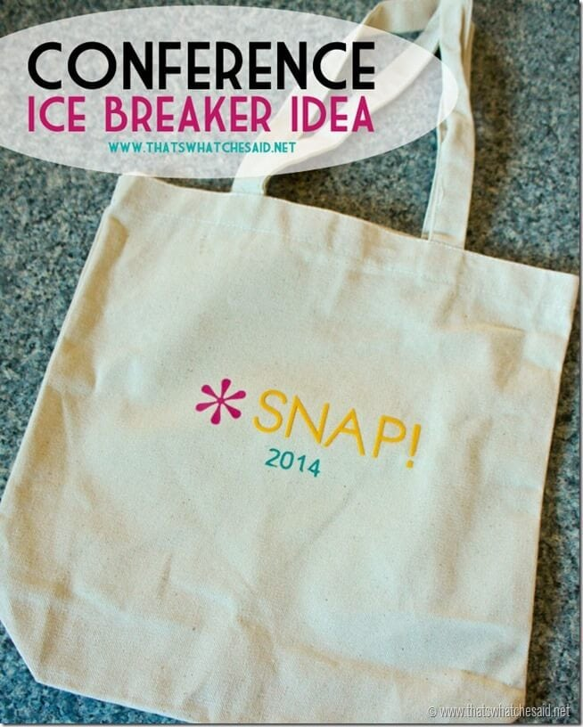 Blog Conference Ice Breaker Idea at thatswhatchesaid