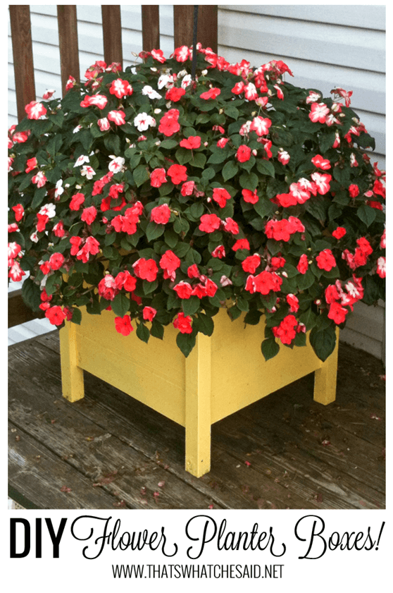 DIY Planter Boxes tutorial at thatswhatchesaid.net.