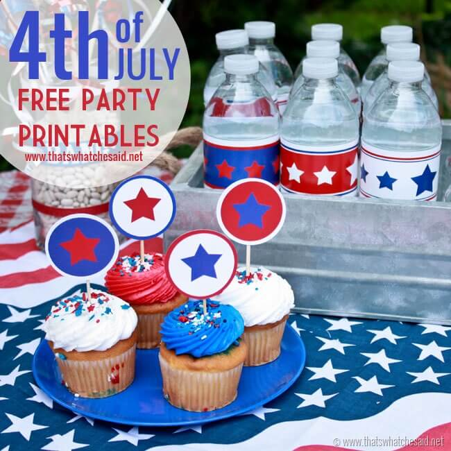 4th of July Free Party Printables at thatswhatchesaid.net