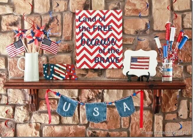 Patriotic Mantel at thatswhatchesaid.com
