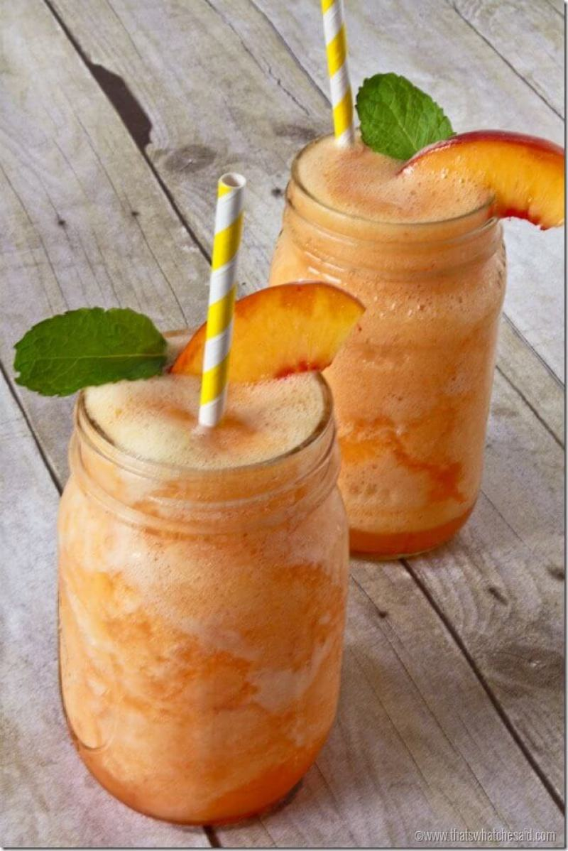 Summer Peach Lemonade Slush Recipe. So refreshing