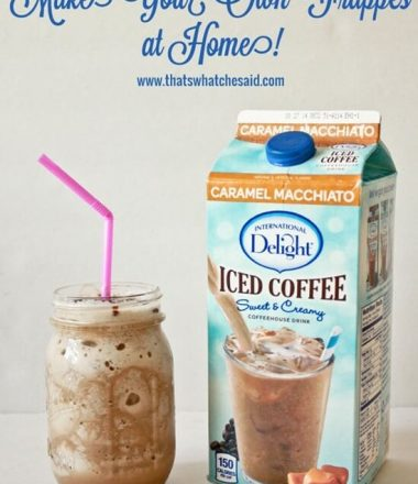 Make your own frappes at thatswhatchesaid.com