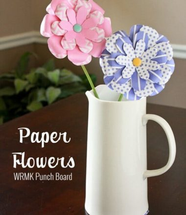 Paper Flowers - Tutorial using WRMK Punch Boards at thatswhatchesaid.net