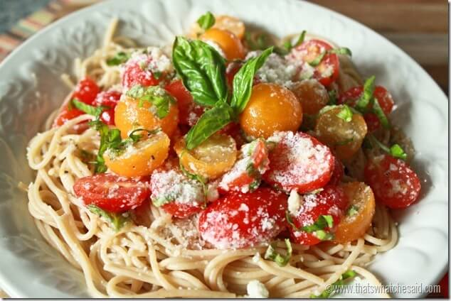 Tomatoes and Pasta at thatswhatchesaid.com
