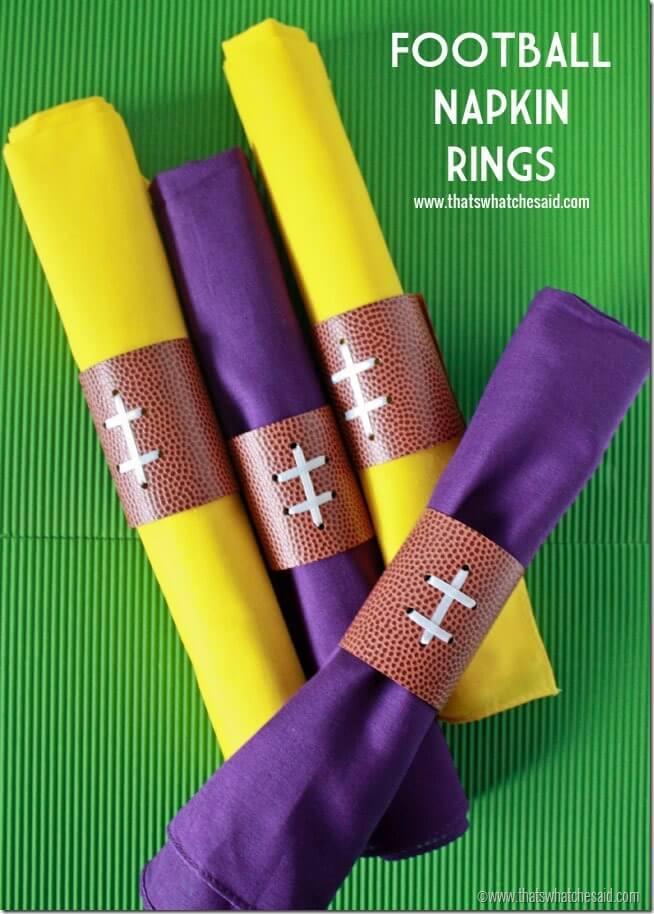 Football Napkin Rings 2