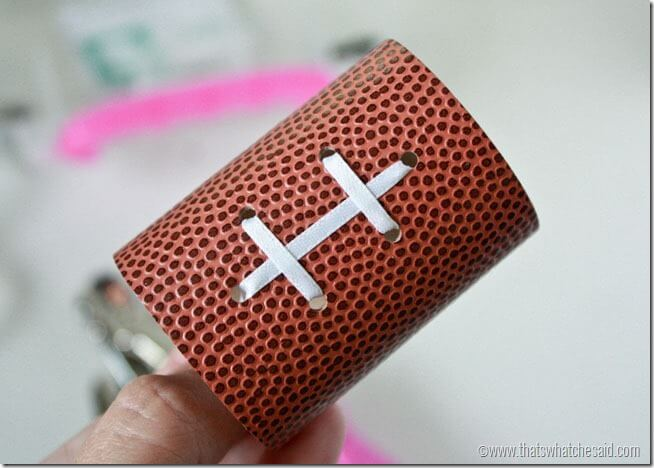 How to make a football napkin ring at thatswhatchesaid.net