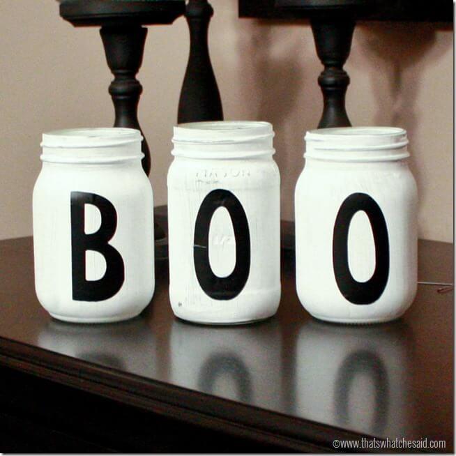 Boo Halloween Mason Jars