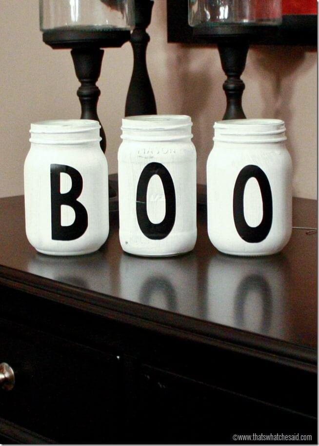 Boo Mason Jars