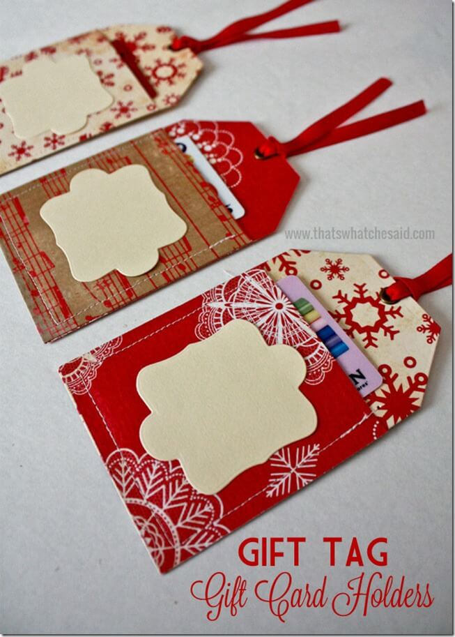 Easy Gift Tag Gift Card Holders