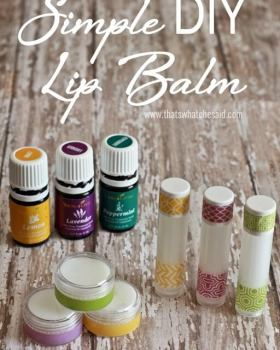 Simple and Easy DIY Lip Balm Recipe that only requires 4 ingredients!