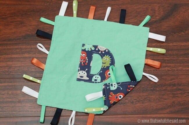 Easy Taggie Blanket 6