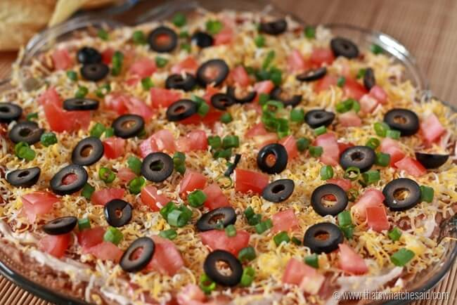 Mexican Layer Dip at thatswhatchesaid.net