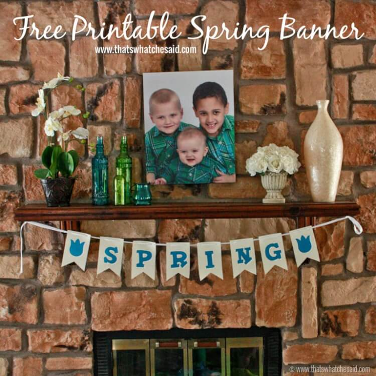 Free Printable Spring Banner at thatswhatchesaid.net