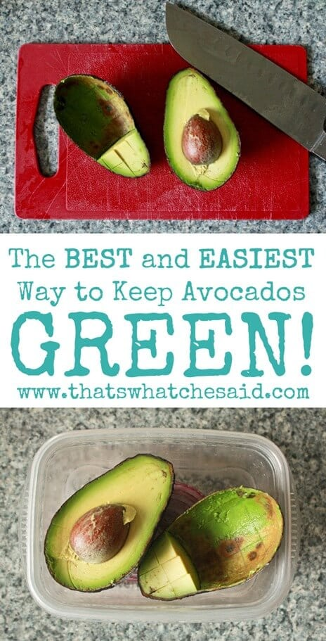 The Best and Easiest Way to Keep Avocados Green at thatswhatchesaid.com