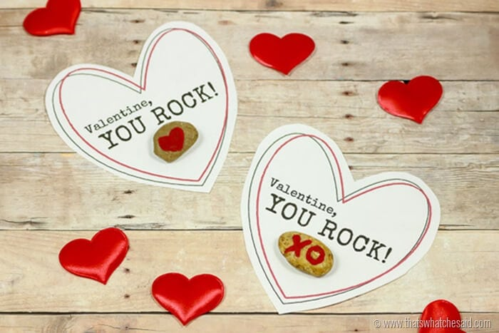 Free Printable Valentine You Rock Valentine