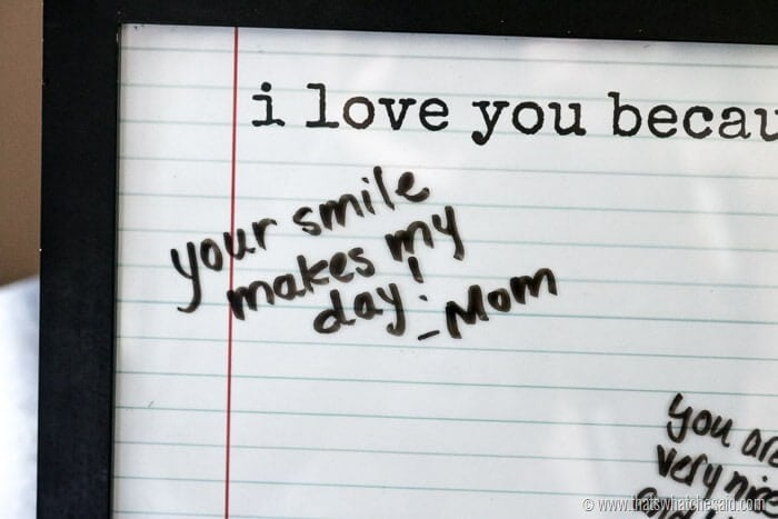 I Love You Because Free Printable Activity at www.thatswhatchesaid.com