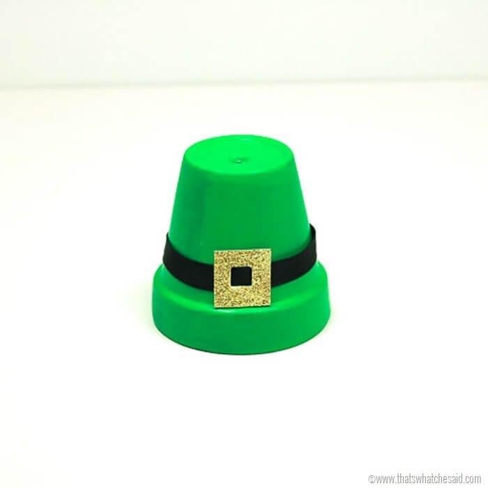 Clay Pot Crafts - Leprechaun Hat