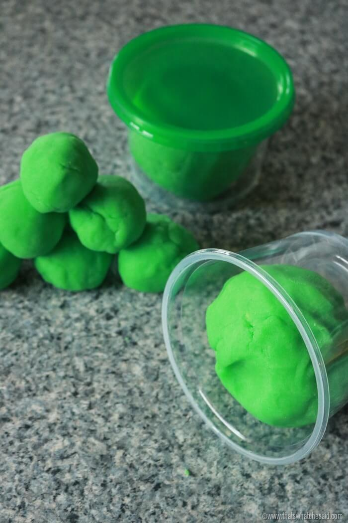 Leprechaun Poop Green Play Dough-3