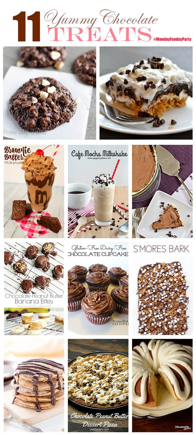 11 Choclate Recipes Monday Funday Link Party
