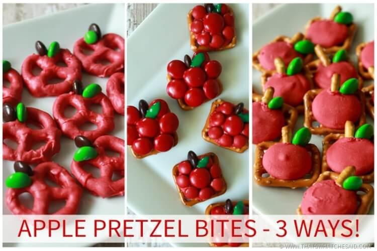 Apple Pretzel Bites 3 Different Ways