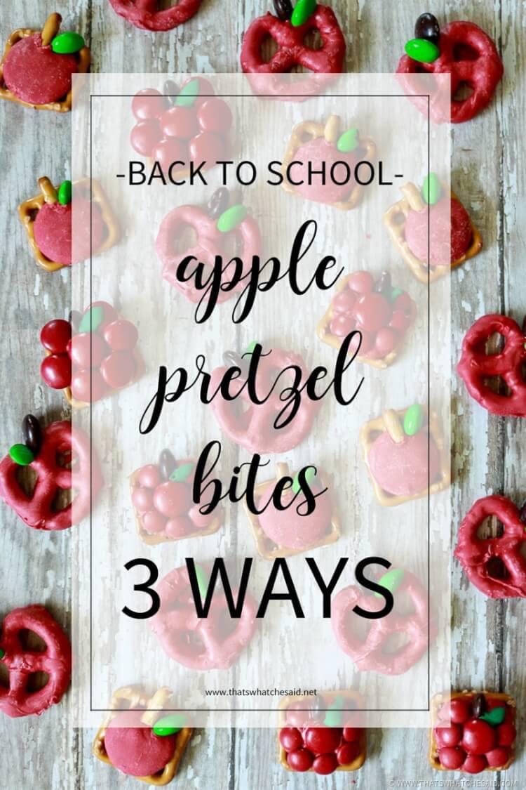 Apple Pretzel Bites-3 Ways