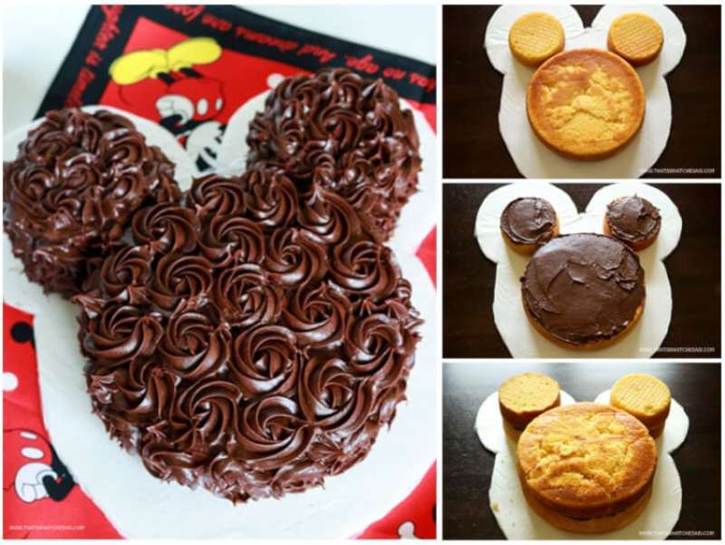Make a classy version of our favorite cartoon icon! Mickey Mouse! This cake is really easy!