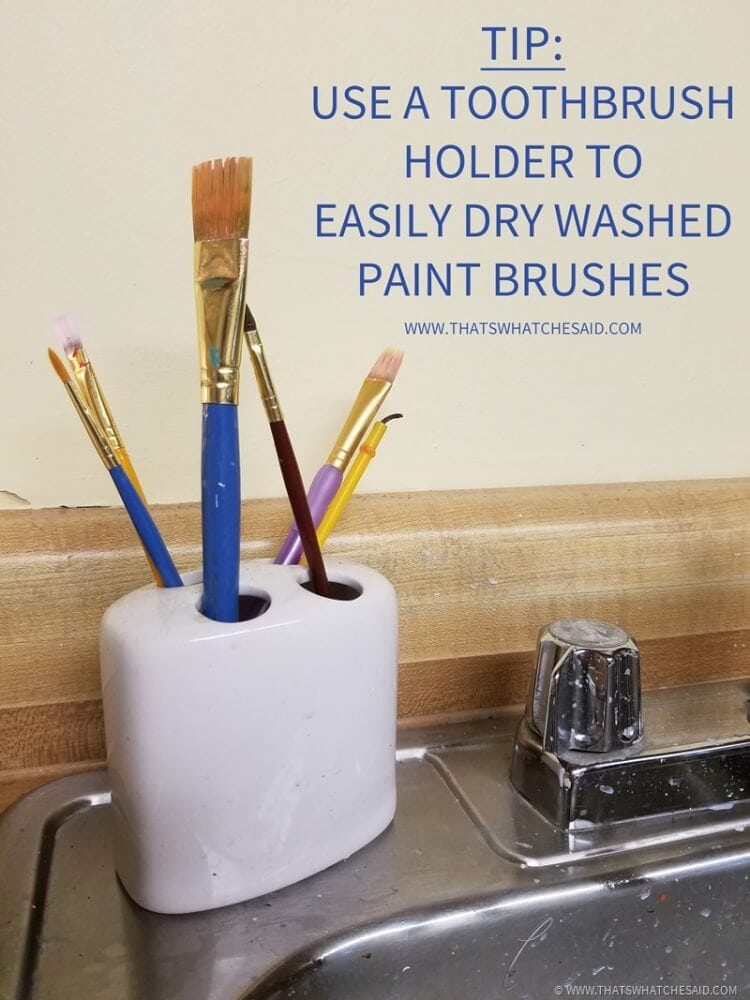 Tip on how to dry painbrushes