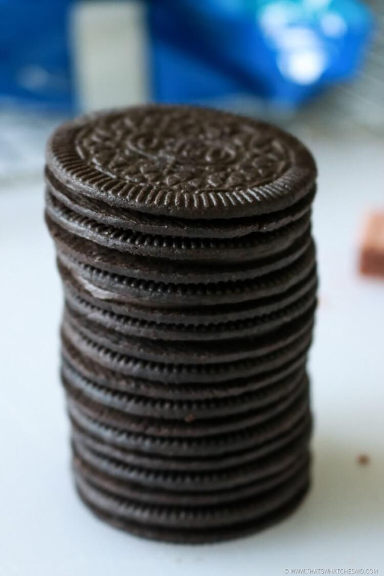 All Chocolate Oreos create the perfect base for football treats
